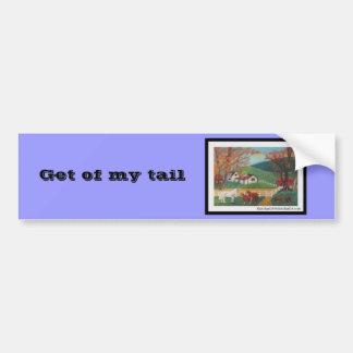Horse Landscape Bumper Sticker