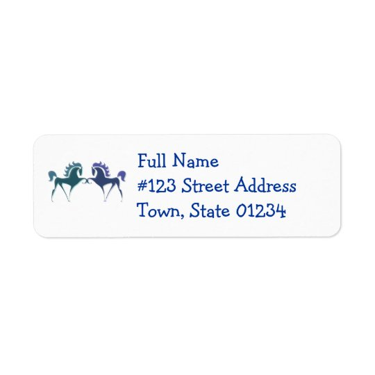Horse Logo Return Address Label