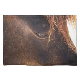 Horse looking down placemat