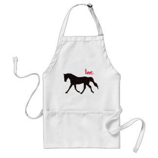 Horse, Love and Hearts Standard Apron