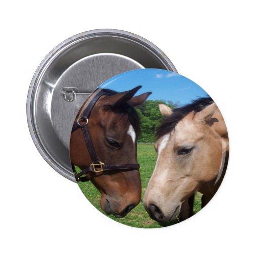 Horse Love Button 2 Inch Round Button