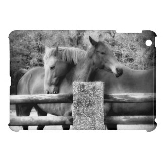 Horse Love Hugging Horse Couple iPad Mini Cases