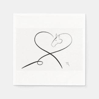 Horse Love Paper Napkin
