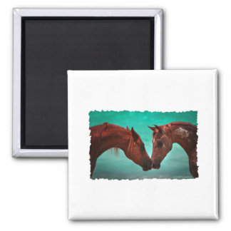 Horse Love Square Magnet