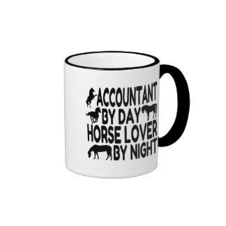Horse Lover Accountant Ringer Coffee Mug