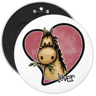 Horse Lover 6 Cm Round Badge