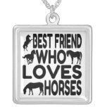 Horse Lover Best Friend Necklace