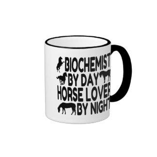 Horse Lover Biochemist Ringer Coffee Mug