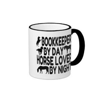 Horse Lover Bookkeeper Ringer Coffee Mug