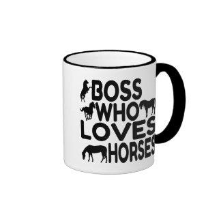 Horse Lover Boss Ringer Mug