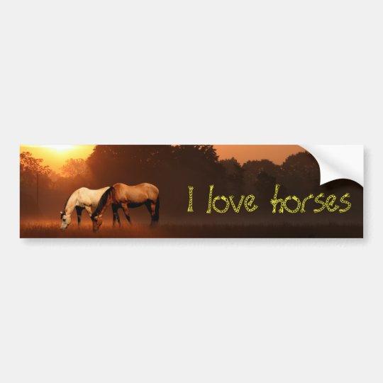 Horse lover bumper sticker
