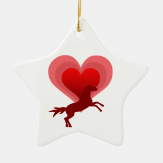 Horse lover christmas ornament