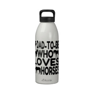 Horse Lover Dad To Be Reusable Water Bottle