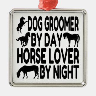 Horse Lover Dog Groomer Christmas Ornament