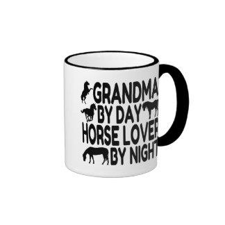 Horse Lover Grandma Ringer Coffee Mug