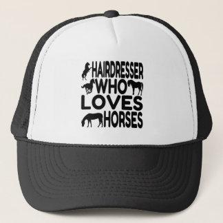 Horse Lover Hairdresser Trucker Hat