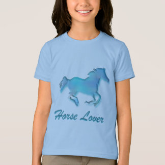 Horse Lover in Turquoise T-Shirt