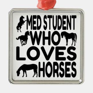 Horse Lover Med Student Christmas Ornament