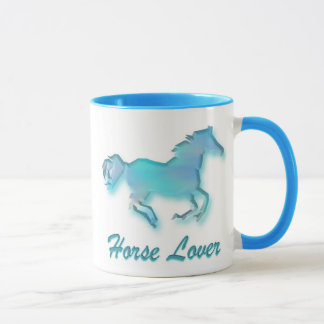 Horse Lover Mug in Turqoise