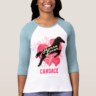 Horse Lover Personalized Candace T Shirt