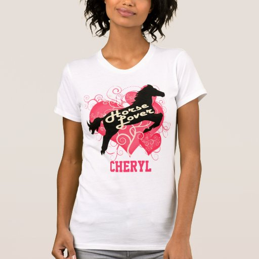 Horse Lover Personalized Cheryl T Shirts