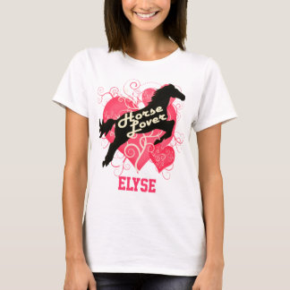Horse Lover Personalized Elyse T-Shirt