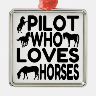 Horse Lover Pilot Christmas Ornament