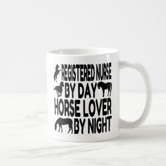 Horse Lover Registered Nurse Basic White Mug