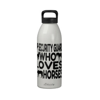 Horse Lover Security Guard Water Bottle