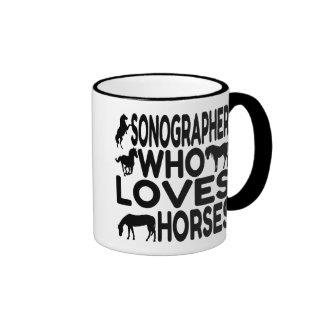 Horse Lover Sonographer Ringer Mug