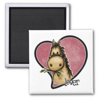 Horse Lover Square Magnet