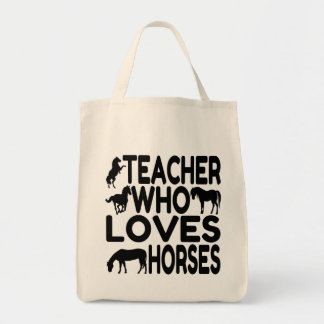 Horse Lover Teacher Tote Bag