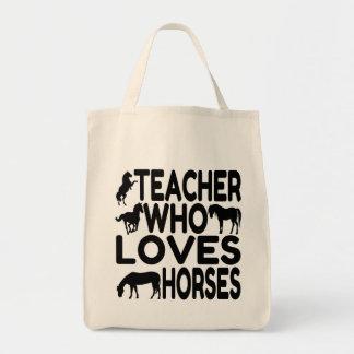 Horse Lover Teacher Grocery Tote Bag