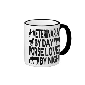 Horse Lover Veterinarian Ringer Mug