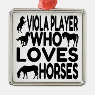 Horse Lover Viola Player Christmas Ornament