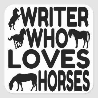 Horse Lover Writer Square Sticker