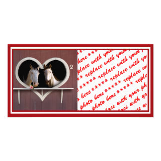 Horse Lovers (Add Your Text) Custom Photo Card