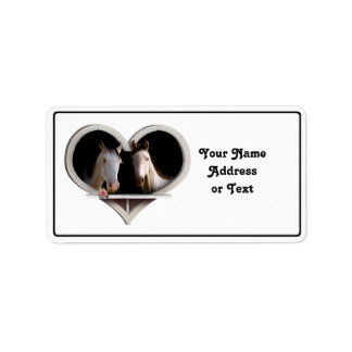 Horse Lovers Address Label