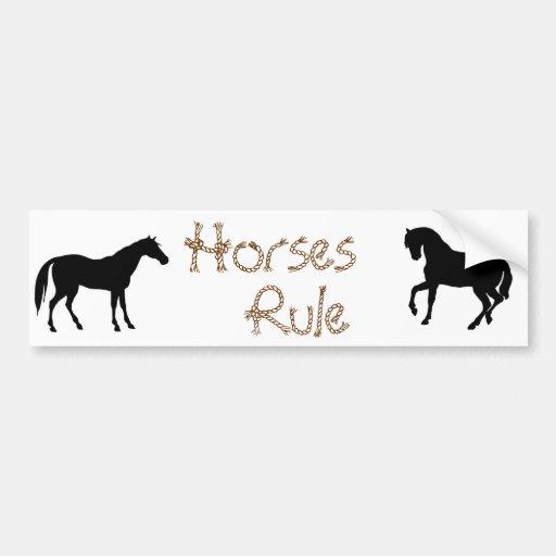 Horse Lovers Bumper Sticker
