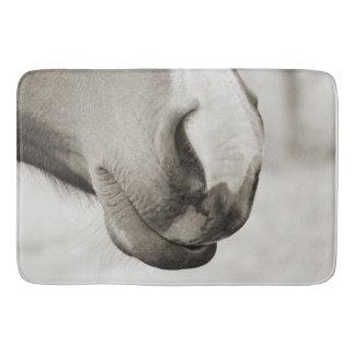 Horse lovers close up bath mat