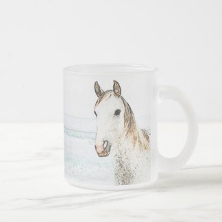 Horse Lover's Frosted Glass Mug