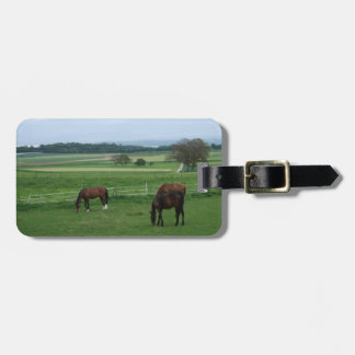 horse lovers luggage tag