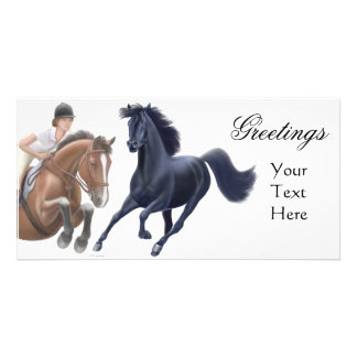 Horse Lovers Photo Card