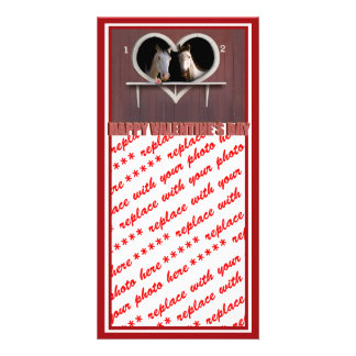 Horse Lovers Valentine Customized Photo Card