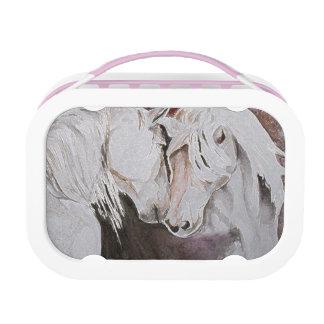 Horse Lunchbox, Peach/Pink Lunch Box