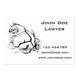 Horse Lying Down Illustration Pack Of Chubby Business Cards
