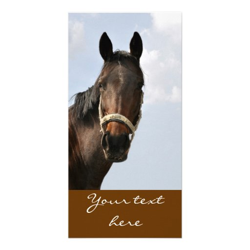 Horse - map custom photo card