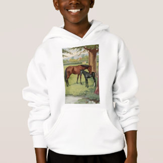 Horse Mare Foal Equestrian Vintage Image