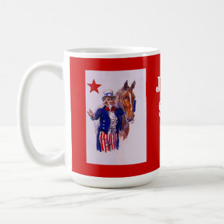 Horse Meat Slaughter Just Say No Campaign UncleSam Coffee Mugs