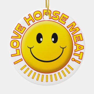 Horse Meat Smile Round Ceramic Decoration